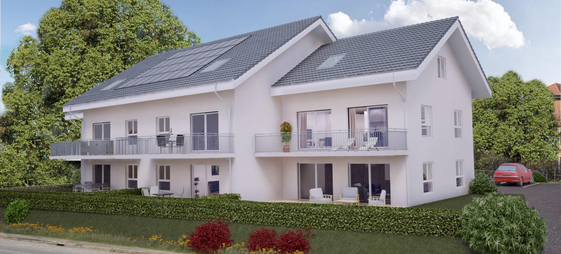 Appartement neuf de 2.5 pièces dans petit immeuble de 8 appartements à Vuarrens avec finitions à choix